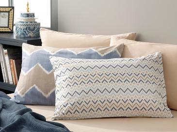 Pure Ikat Pamuklu 2'li Yastık Kılıfı 50x70 Cm Mavi