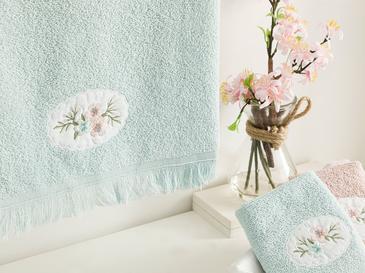 Fancy Flowers Nakışlı Yüz Havlusu 50X76 Cm Seledon