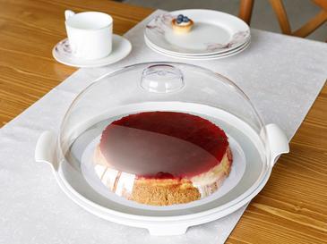 Manolya Kapaklı Kek Fanus 31 Cm Renkli
