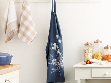Tual Polyester Ayarlanabilir Mutfak Önlüğü 65X75 Beyaz - Mavi