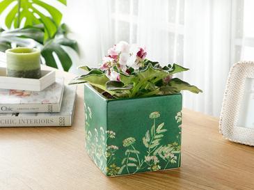 Flower Saksı 12,8x12,8x12,5 Cm Yeşil