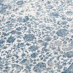 Elves Kadife Halı 80x150 Cm Mavi - Gri