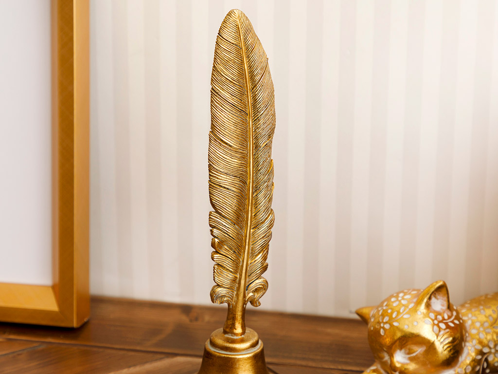 Feather Biblo 17x8x5,3 Cm Gold