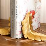 Pureness Polyresin Kitap Tutucu 25X10,5X13 Cm Altın