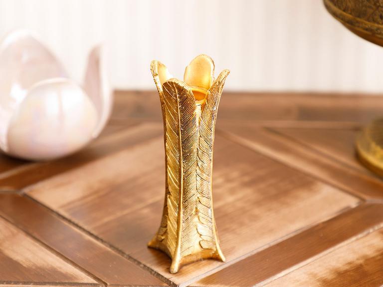 Linear Şamdan 4,5x4,7x14 Cm Gold
