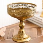 Vıntage Metal Dekoratif Obje 20x20x24 Gold