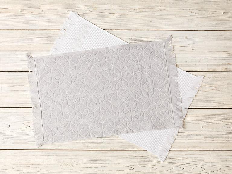 Art Pamuk 2'li Kurulama Bezı 40X60 Beyaz - Gri