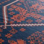 Siena Kadife Halı 160x230 Cm Kırmızı - Lacivert