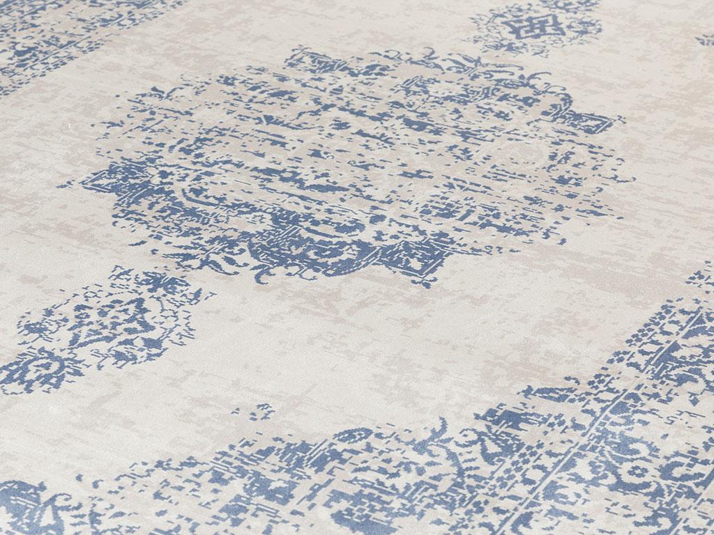 Elmina Kadife Halı 80x150 Cm Lacivert
