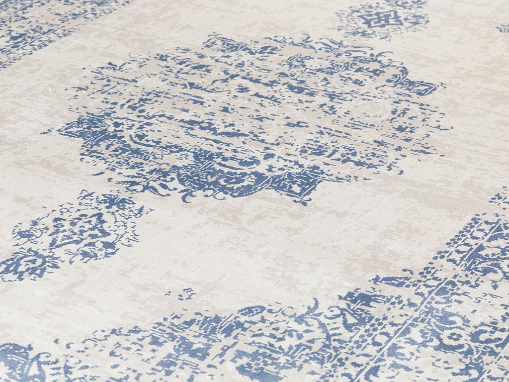 Elmina Kadife Halı 120x180 Cm Lacivert
