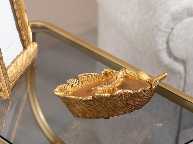 Pure Fleur Dekoratif Kutu 17x8x5,3 Cm Gold