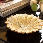 Pure Iris Dekoratif Tabak 19x19x4,5 Cm Gold
