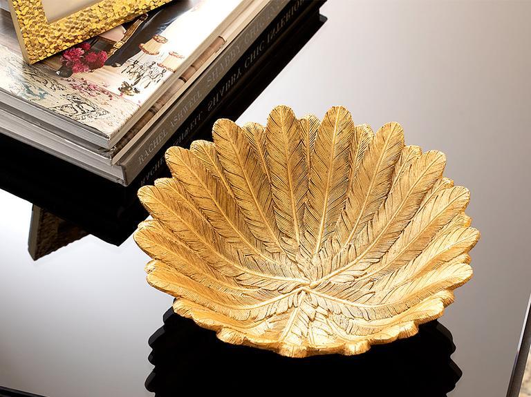 Pure Folk Polyresin Dekoratif Tabak 21,5X21,5X7,5 Cm Altın