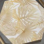 Linear Leaf Mdf Dekoratif Kutu 15X17X5,5 Cm Krem