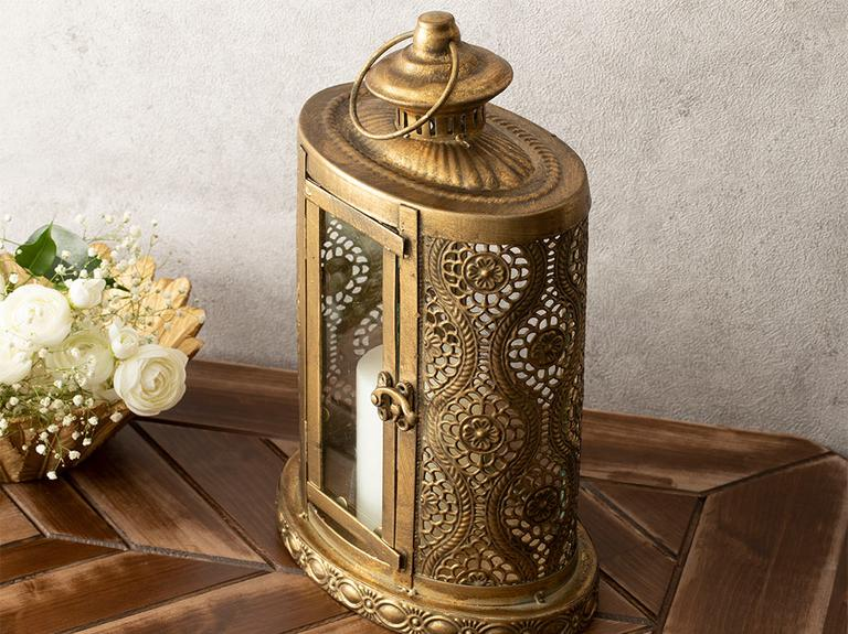 Romantic Stripe Metal Fener 21x13,5x32 Gold