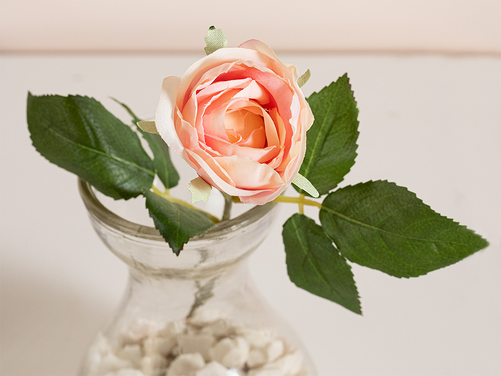 Cypress Kumaş Yapay Çiçek 20 Cm Açık Pembe