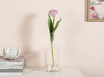 Ragged Orchid Kumaş Tek Dal Yapay Çiçek 39 Cm Pembe