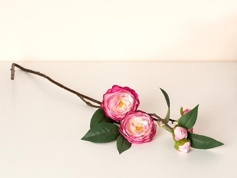 Freesia Kumaş Tek Dal Yapay Çiçek 66 Cm Koyu Pembe