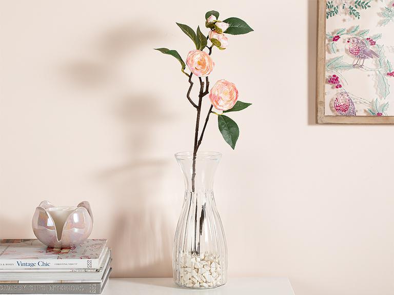 Freesia Kumaş Tek Dal Yapay Çiçek 66 Cm Açık Pembe
