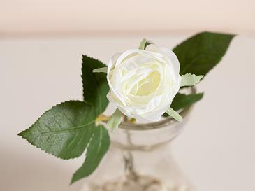 Cypress Kumaş Yapay Çiçek 20 Cm Beyaz