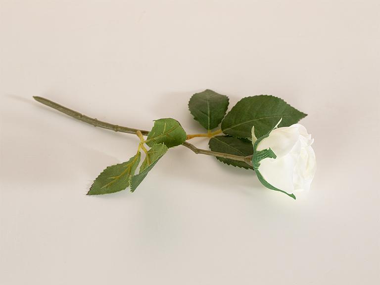 Cypress Kumaş Tek Dal Yapay Çiçek 20 Cm Beyaz