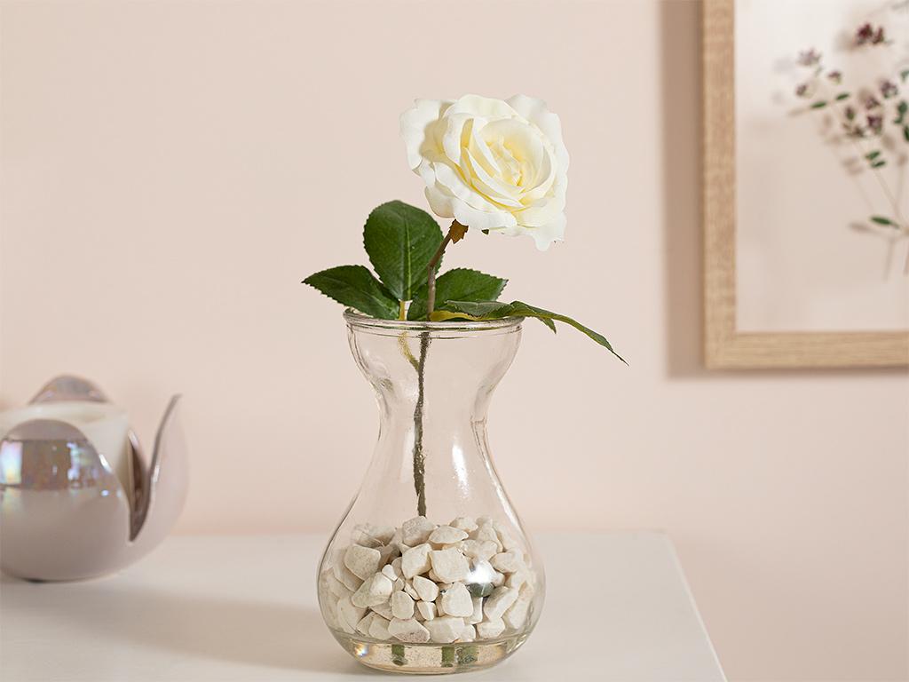 Lilies Kumaş Yapay Çiçek 20 Cm Beyaz