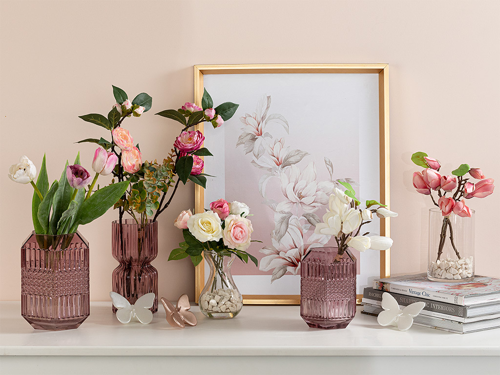 Ragged Orchid Kumaş Yapay Çiçek 39 Cm Açık Pembe