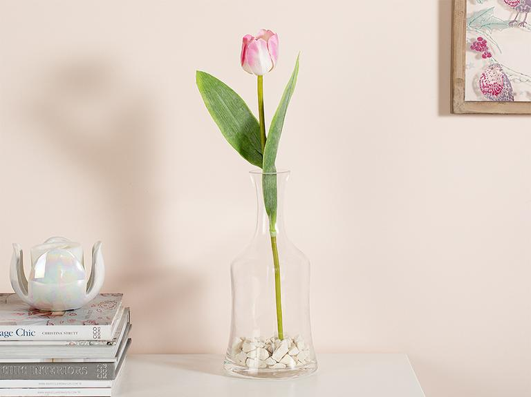 Ragged Orchid Kumaş Tek Dal Yapay Çiçek 39 Cm Açık Pembe