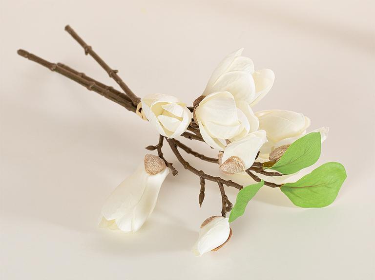 Corolla Kumaş Tek Dal Yapay Çiçek 28 Cm Beyaz