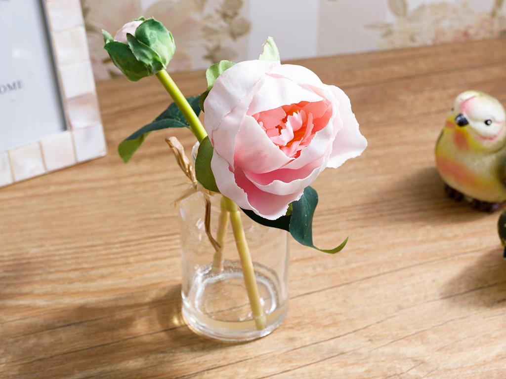 Pretty Rose Soft Plastic Yapay Çiçek 5,5x5,5x20 Cm Pembe