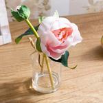 Pretty Rose Soft Plastic Vazolu Yapay Çiçek 5,5X5,5X20 Cm Pembe