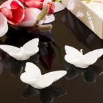 Butterflies Parafin 3'Lü Mum 7X5X1,5 Cm Gümüş