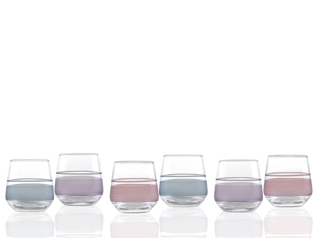 Band Cam 6'lı Kahve Yanı Su Bardağı 115 Ml Renkli