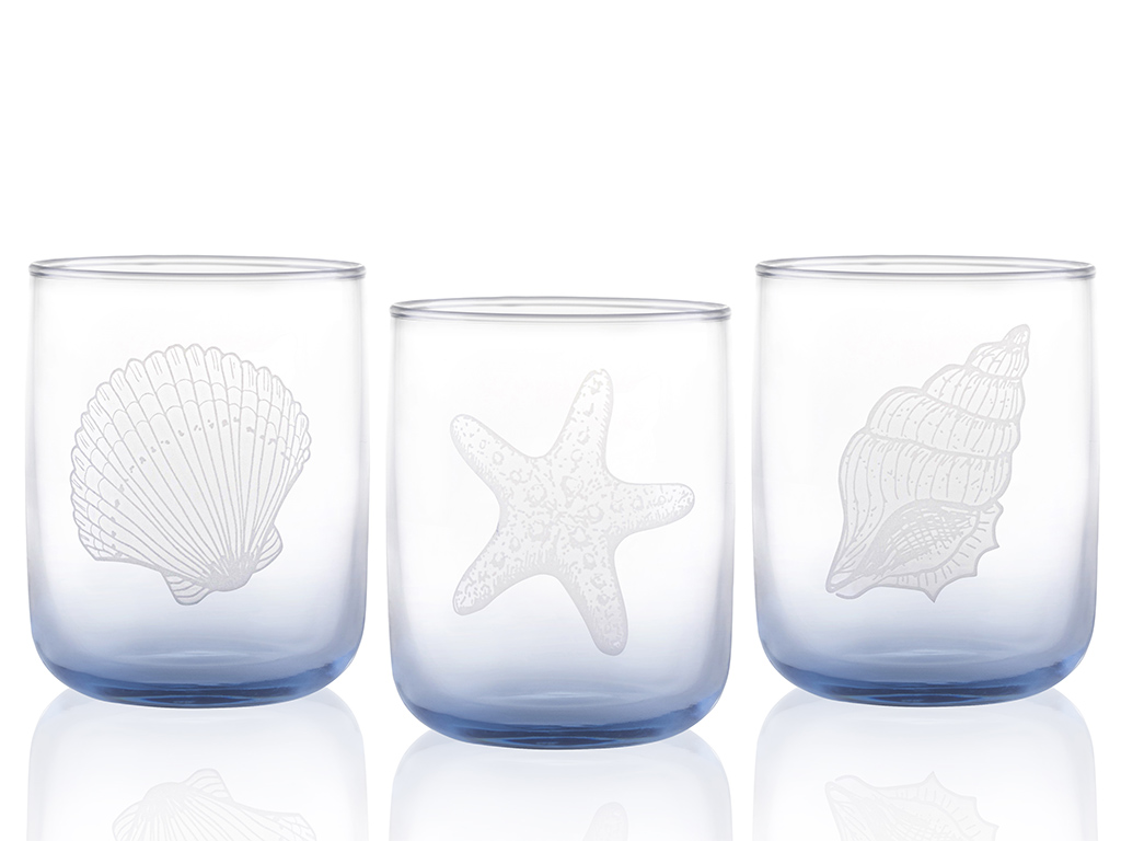 Marin Cam 3'lü Meşrubat Bardağı 270 Ml Mavi