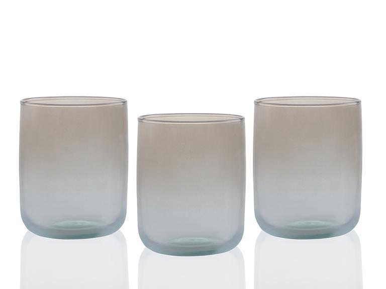 Degetto Cam 3'lü Meşrubat Bardağı 270 Ml Yeşil-Kahve