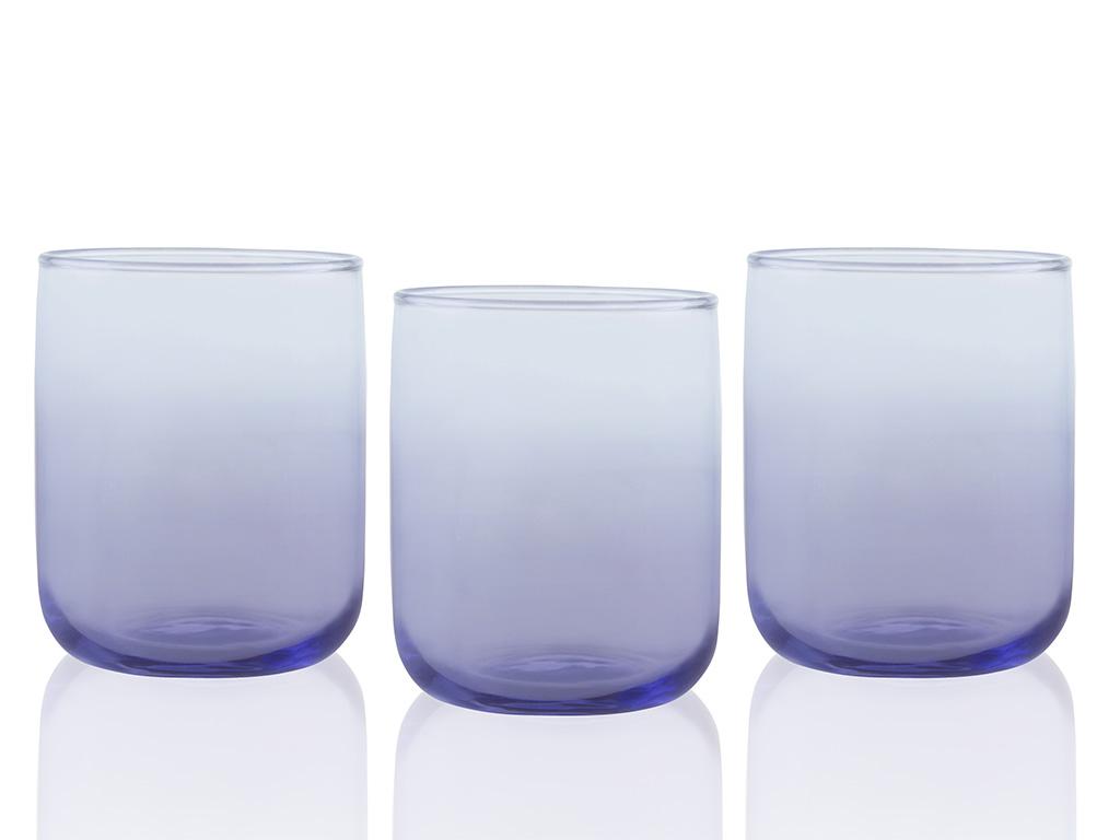 Degetto Cam 3'lü Meşrubat Bardağı 270 Ml Renkli