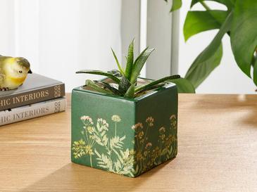 Flower Saksı 10,2x10,2x10,2 Cm Yeşil