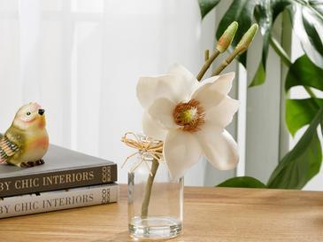 Tropic Dream Soft Plastic Vazolu Yapay Çiçek 5,2X5,2X21Cm Beyaz