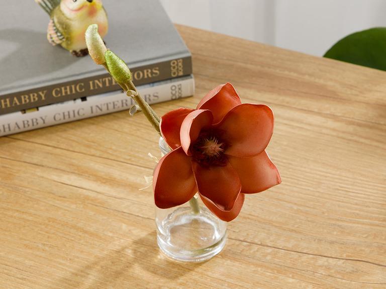 Tropic Dream Soft Plastic Vazolu Yapay Çiçek 5,2X5,2X21Cm Koyu Pembe