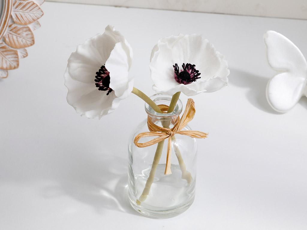 Garden Passion Soft Plastic Yapay Çiçek 5,5x5,5x19 Beyaz