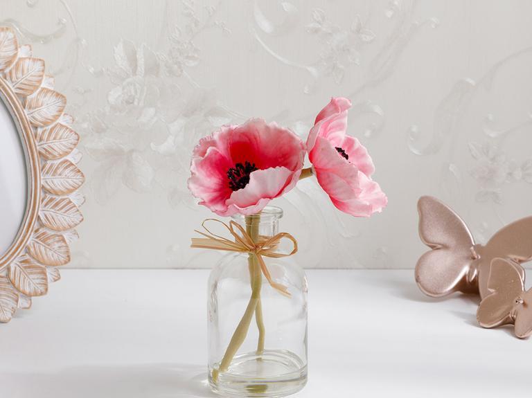 Garden Passion Soft Plastic Vazolu Yapay Çiçek 5,5X5,5X20 Cm Pembe