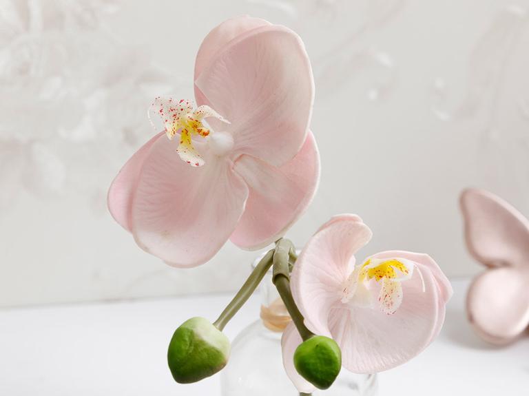 Alya Soft Plastic Vazolu Yapay Çiçek 5,2X5,2X21Cm Açık Pembe