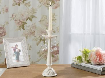 Majestic Rose Ferforje Şamdan 10x10x28 Beyaz