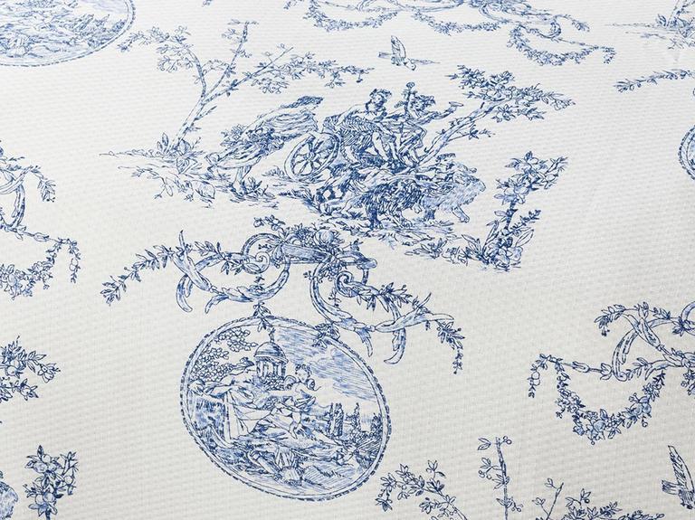 Ancient Age Baskılı Tek Kişilik Pike Takımı 150X220 Cm Mavi