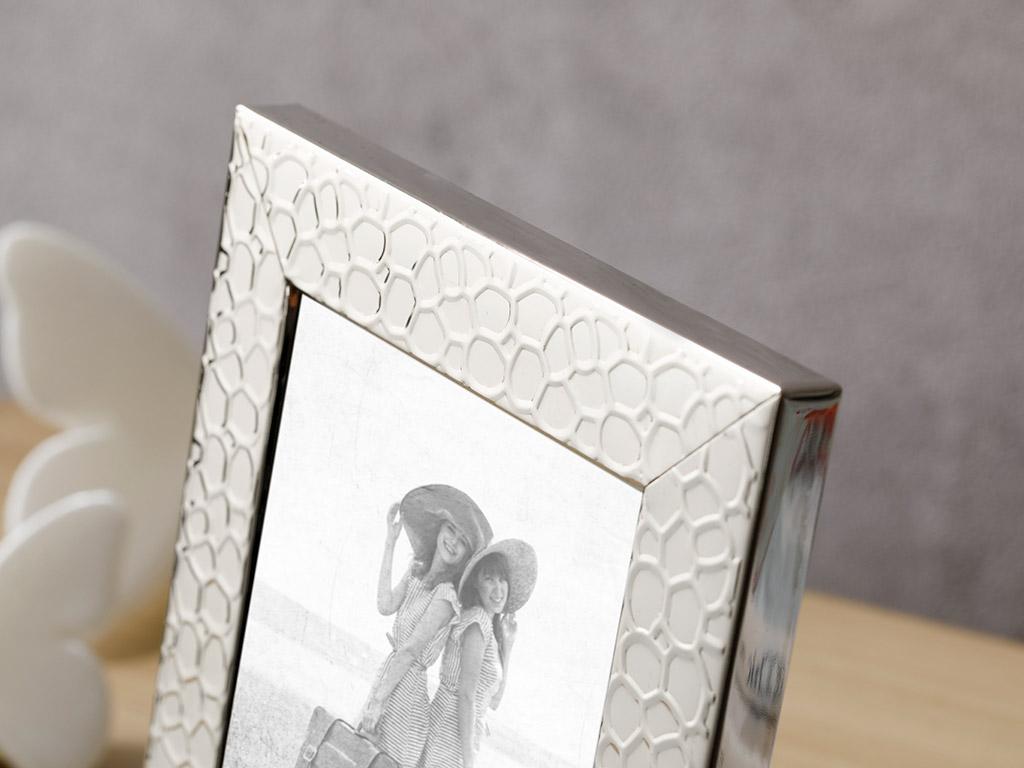 Lace Çerçeve 10x15 Cm Gümüş