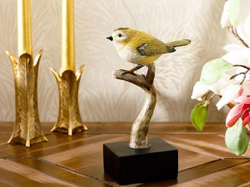 Hanging Bird Polyresin Dekoratif Obje 11x10x27,2 Cm Yeşil