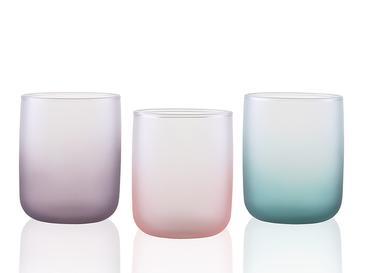 Mat Cam 3'lü Meşrubat Bardağı 270 Ml Renkli