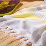Sea Dreams Plaj Havlusu 75x150 Cm Gri-sarı