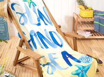 Summer Baskılı Plaj Havlusu 80x150 Cm Sarı