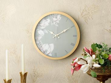 Magnolia Plastik Duvar Saati 30 Cm Altın